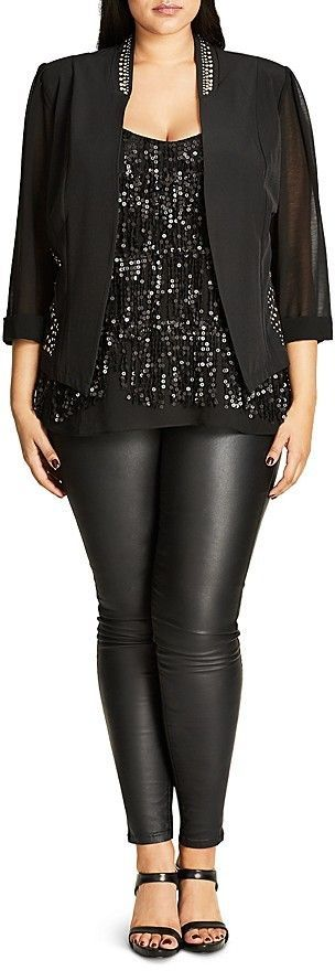 Plus Size Stud Magic Jacket | Plus Size Fashion | Pinterest | Vegas outfits Pandora and Pandora ...