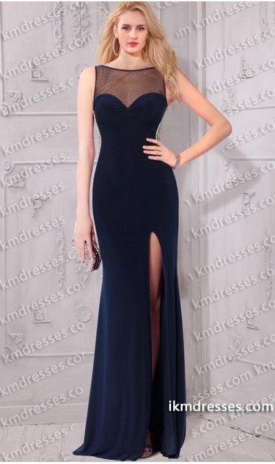 http://www.ikmdresses.com/Elegant-Illusion-open-back-High-slit-Pearl-Trim-Gown-p59552