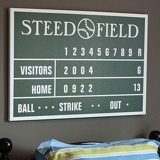 Personalized Baseball Scoreboard Canvas or Poster