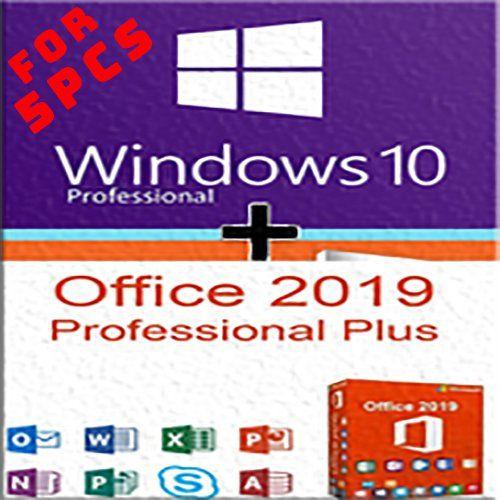 Windows 10 Pro Office 2019 Pro Plus 5 Pcs License Key