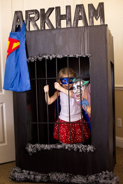 Arkham Jail...superhero party photo booth
