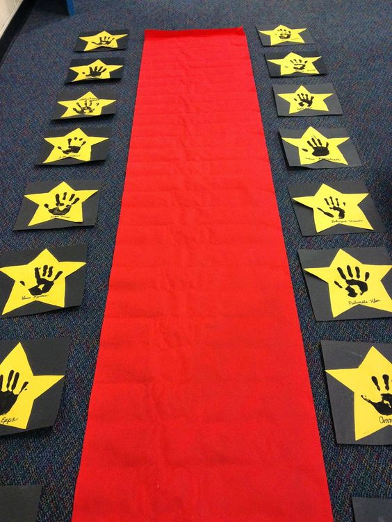 Classroom hollywood and search on pinterest - Kindergarten graduation decorations ...