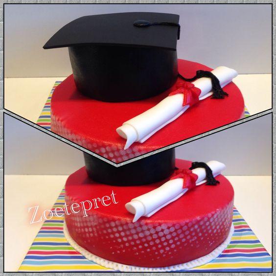 Geslaagd  afstuderen taart