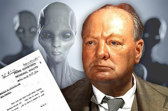 """Churchill: """"Questo avvistamento UFO deve essere classificato immediatamente. Creerebbe panico di massa e…"""