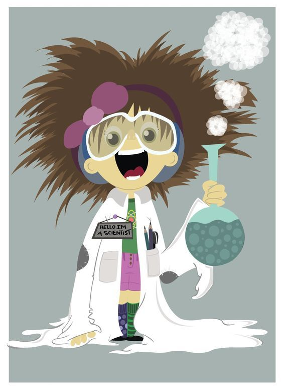 Scientist Cartoon By Fatema Saleh On Ideas Chemistry Art Mad