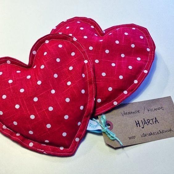 Rimna´s skafferi: Värmande/kylande hjärtan | Craft ideas | Pinterest