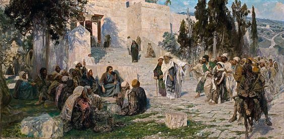 """""""He that is without sin"""" by Vasilii Polenov (1908)"""