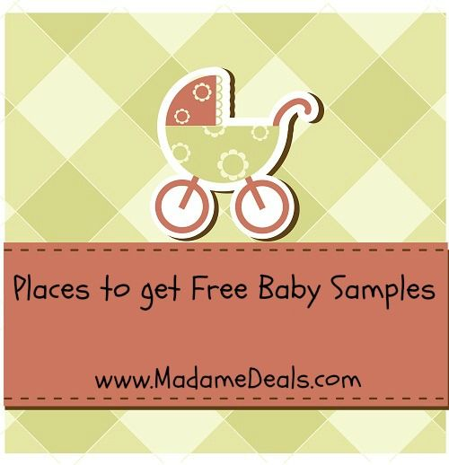 Places to get Free Baby Samples