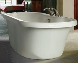 freestanding tub with faucet deck. photos of freestanding bathtubs with deck mounted faucets  MTI Melinda 6 Freestanding Tub Soaking or Air Tubs Home Ideas Pinterest
