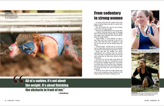 Magazine spread by Stacey Pierce.