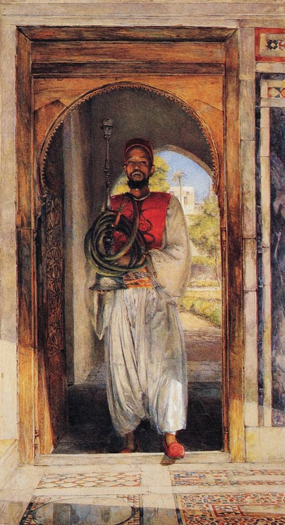 "The Pipe Bearer"" by John Frederick Lewis:"