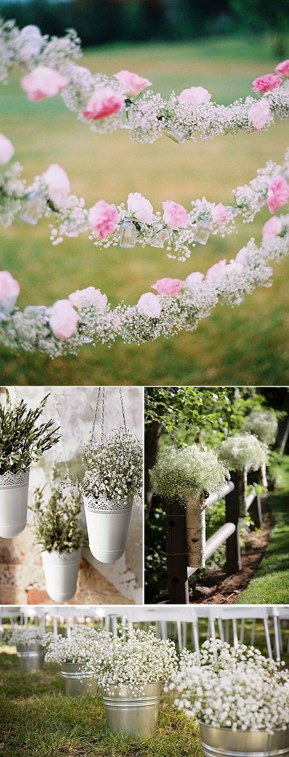 Ideas para decorar el pasillo en las bodas con paniculata for Ideas para decorar una boda