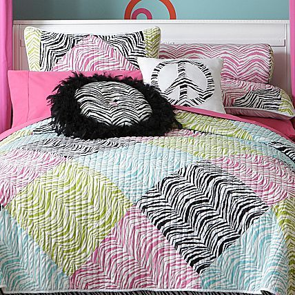 Seventeen 174 zebra peace coverlet and accessories jcpenney ideas