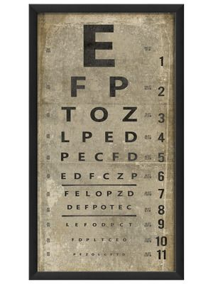 Eye Chart III by Artwork Enclosed on Gilt Home