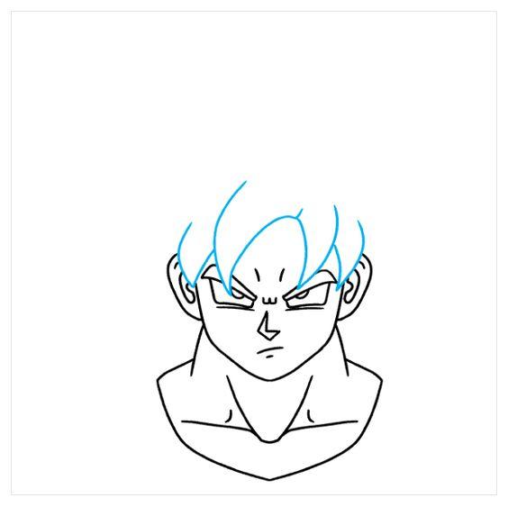 Cách Vẽ Goku Ultra Instinct