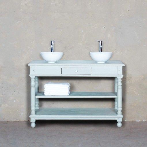 Meuble salle de bain table de drapier 130 d co pinterest - Table de drapier salle de bain ...