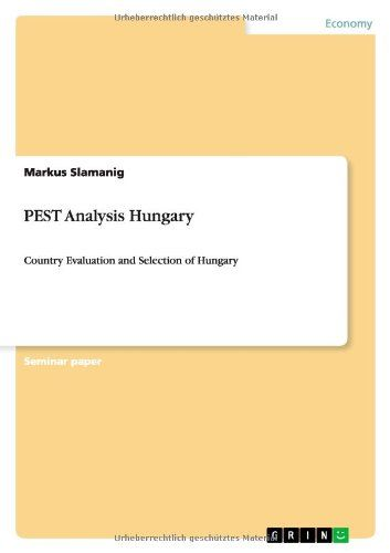 Download free Pest Analysis Hungary pdf urdu-books Pinterest - pest analysis