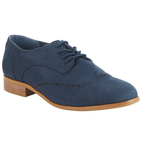 Buy John Lewis Lace Up Brogues, Navy Online at johnlewis.com