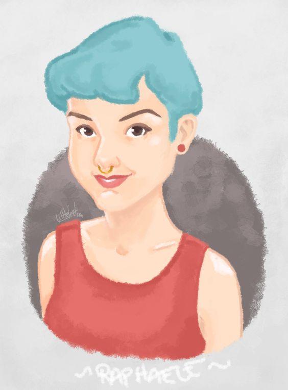 Raphaele Ilustração by LittleFeet contato.littlefeetstore@gmail.com  feita no GIMP