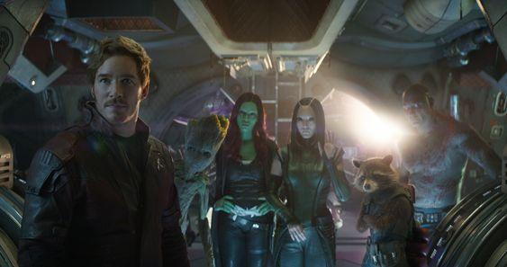 Los Guardianes de la Galaxia en Vengadores: Infinity War