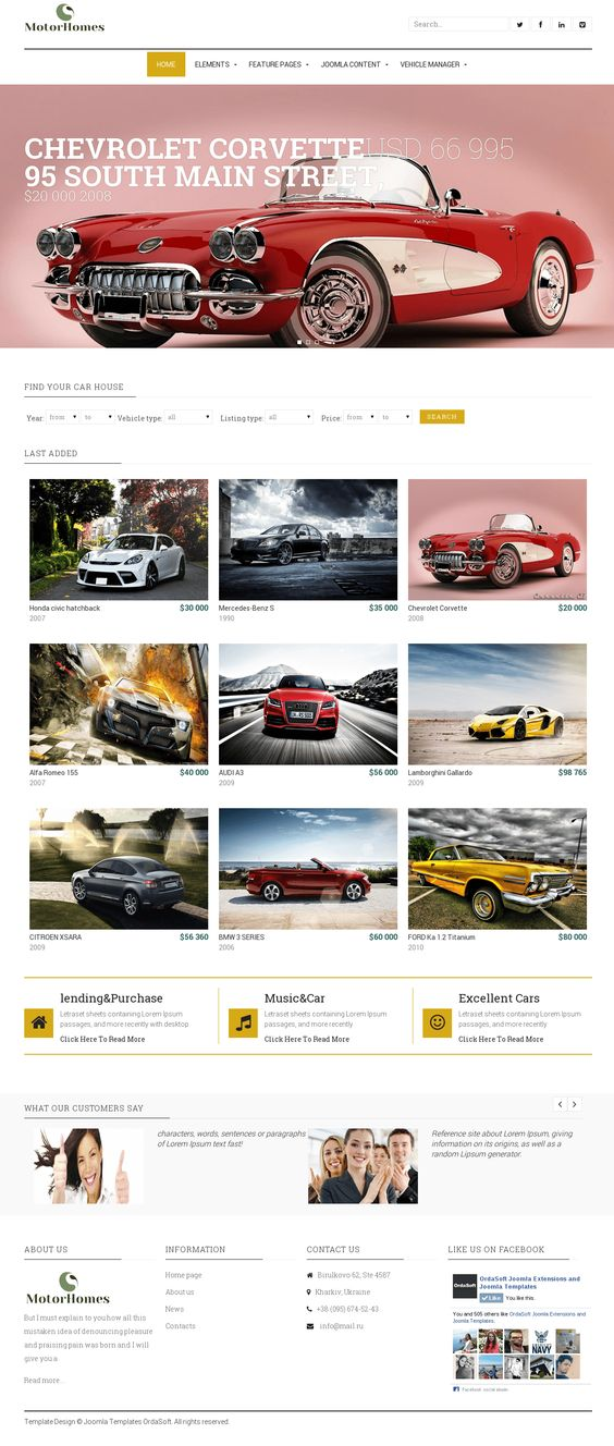 Joomla Template RocketTheme Corvus Joomla Templates Pinterest - car for sale template
