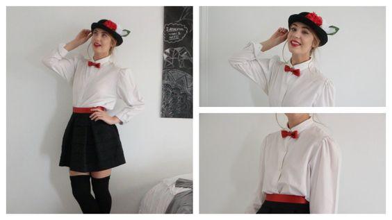 Halloween Tutorial: Mary Poppins (hair, makeup + DIY costume)