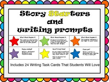 Silly Story Starters And Writing Prompt Task Cards Story