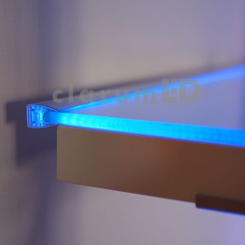 mikro led profile led profile for glass anodized aluminum application glass shelves light up glass edges furniture pinterest glass shelves