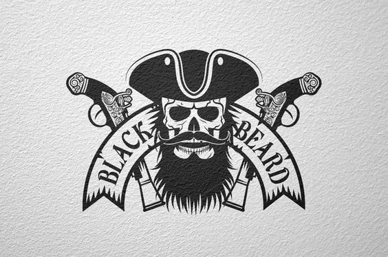 Black Beard pirate logo by DreamBikeShop on Creative Market