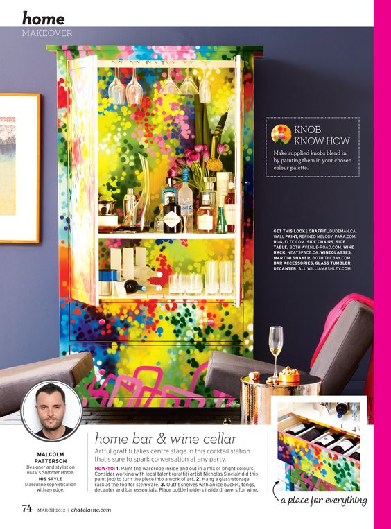 Armoire for Chatelaine Magazine, March 2012 issue. | Dudeman's Blog