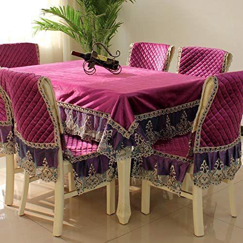 Ongha Home European Coffee Table Tablecloth Fabric Table Cloth Chair Cover Cushion Set Dining Chair Cushion Ch Dining Chair Cushions Chair Cushions Table Cloth