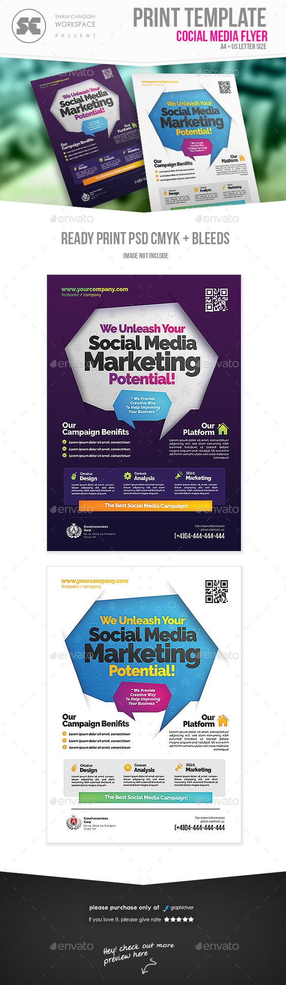 social media campaign flyer flyers flyer template buy social media campaign flyer by shamcanggih on graphicriver flyer templates designed exclusively for business agency services promotion or any of use