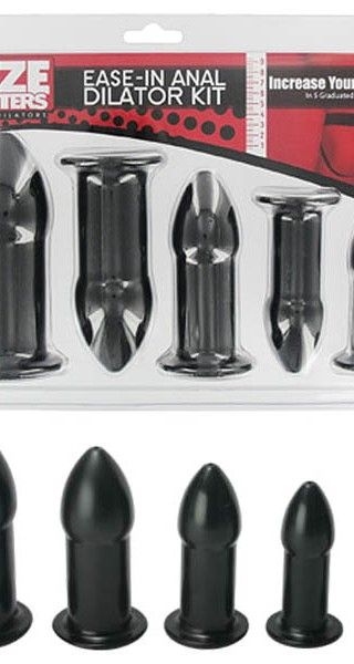 SIZE MATTERS EASE-IN ANAL DILATOR KIT - sex toys perth www.sextoysperth.com.au