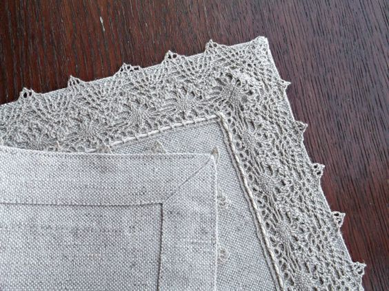 Natural Placemats Set Grey Lace Edging Cloth Table Mat Shabby Chic Placemat  Table Topper Rectangle Small Tablecloth