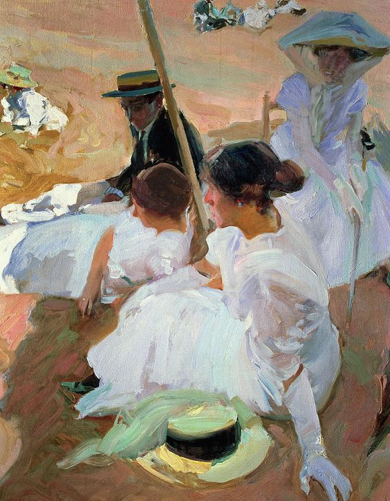 Sorolla paintings of America | Under The Parasol Painting:
