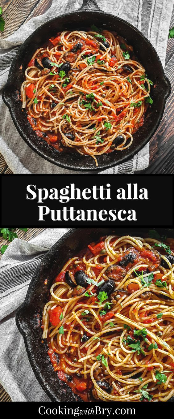 Spaghetti alla Puttanesca Recipe | Cooking with Bry