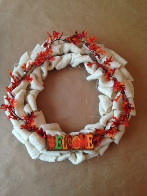 Dress & Home: Burlap Wreath DIY