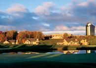 Grand Traverse Resort in Traverse City. Hotel & condo. Great 9th floor restaurant with views of the bay. Indoor & outdoor pool. Golf & tennis. Dylan's Candy Bar. Extremely family friendly.