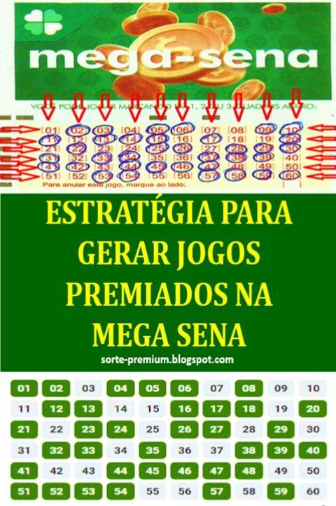 Como Ganhar Na Mega Sena Estrategia De Jogo Mega Sena Sena Loteria