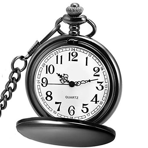 Image result for LYMFHCH Classic Smooth Vintage Quartz Pocket Watch