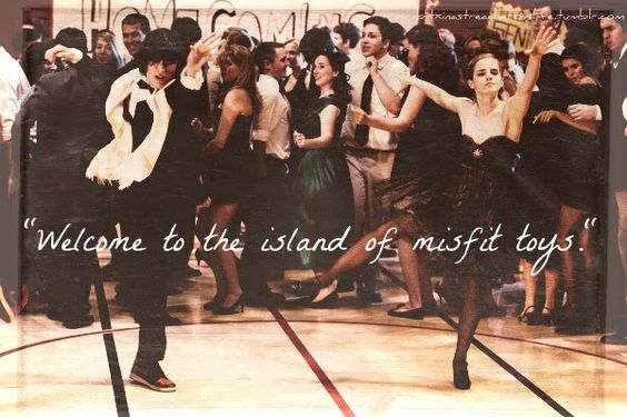 """The Abstract Butterfly's Sanctuary: Friday Night of Quotes: Misfits, Kids & Love => """"Welcome to the island of the misfit toys.""""- The Perks of Being a Wallflower (Movie)"""