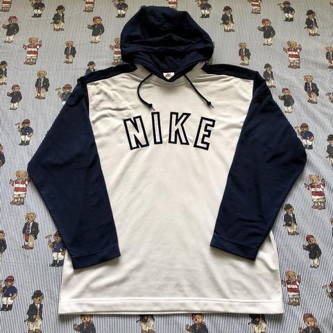 Vintage White Nike Hoodie (M