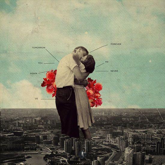 """Never Forever"" by Frank Moth | arte y diseño | imagenes surrealistas | cool vintage collage art"