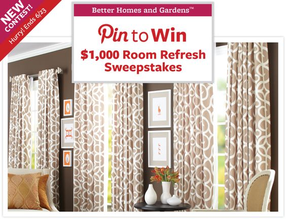 Pin to Win - Room Refresh Sweepstakes