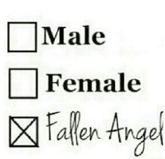 Fallen Angel <3(I am a female fallen angel)