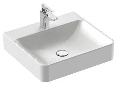 Vasque A Poser 50 X 45 Cm Avec Trop Plein Perce 1 Trou De Robinetterie Jacob Delafon Avec Images Vasque A Poser Vasque Lavabo Vasque