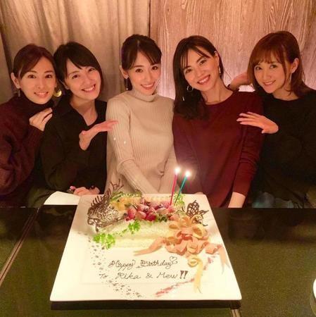 誕生日を祝われる泉里香さん