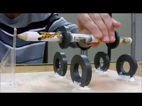 Levitron horizontal ( con imanes de microondas)--Levitron horizontal (microwave magnet - YouTube