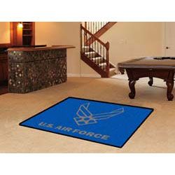 This PATRIOTIC US Airforce 4x6ft Rug features the official team logo, appropriately set as the foreground to the team's authentic colors.
