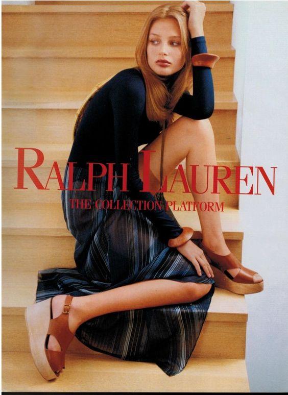 1994  RALPH LAUREN : BRIDGET HALL  Magazine Print Ad    | eBay